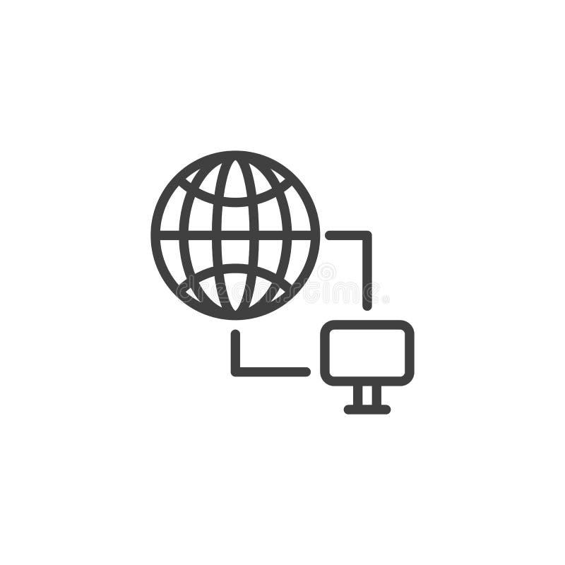 ícone de linha Internet Connectivity ilustração stock