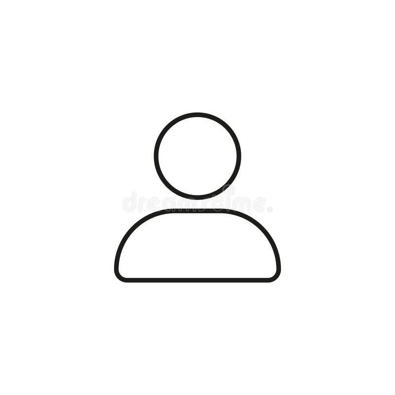 Ícone de linha de usuário moderno Pictograma Premium isolado sobre fundo branco Ilustração vetorial Símbolo de alta qualidade de  ilustração stock