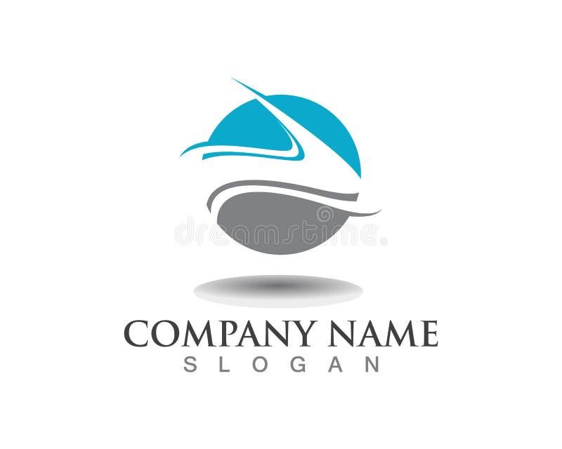Ícone de Logo Template do rio da letra ilustração stock