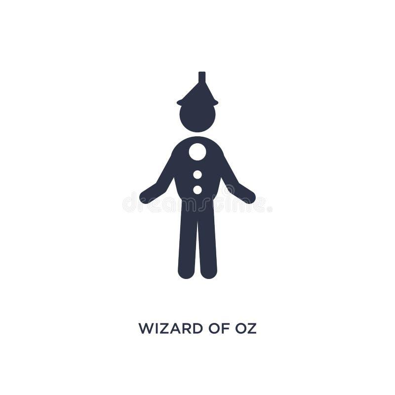 ícone de mágico de Oz no fundo branco Ilustração simples do elemento do conceito da literatura ilustração do vetor