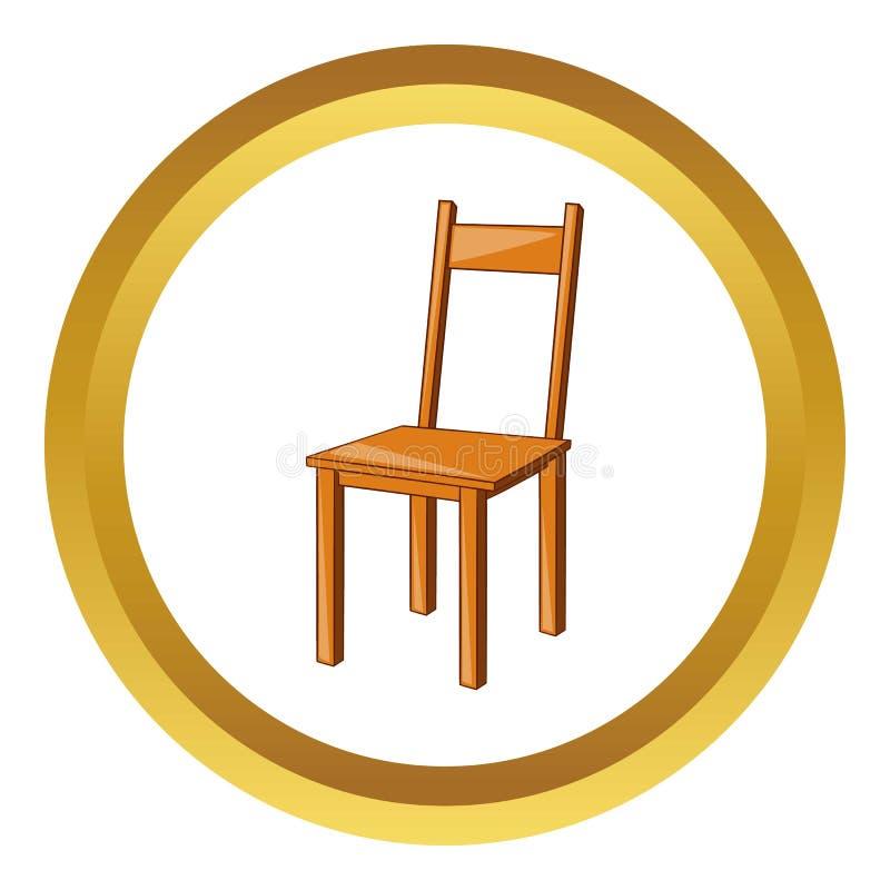 Ícone de madeira da cadeira ilustração do vetor