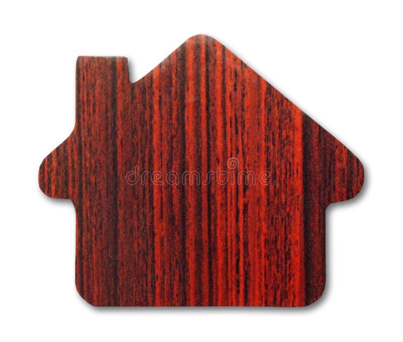 Ícone de madeira da casa foto de stock royalty free