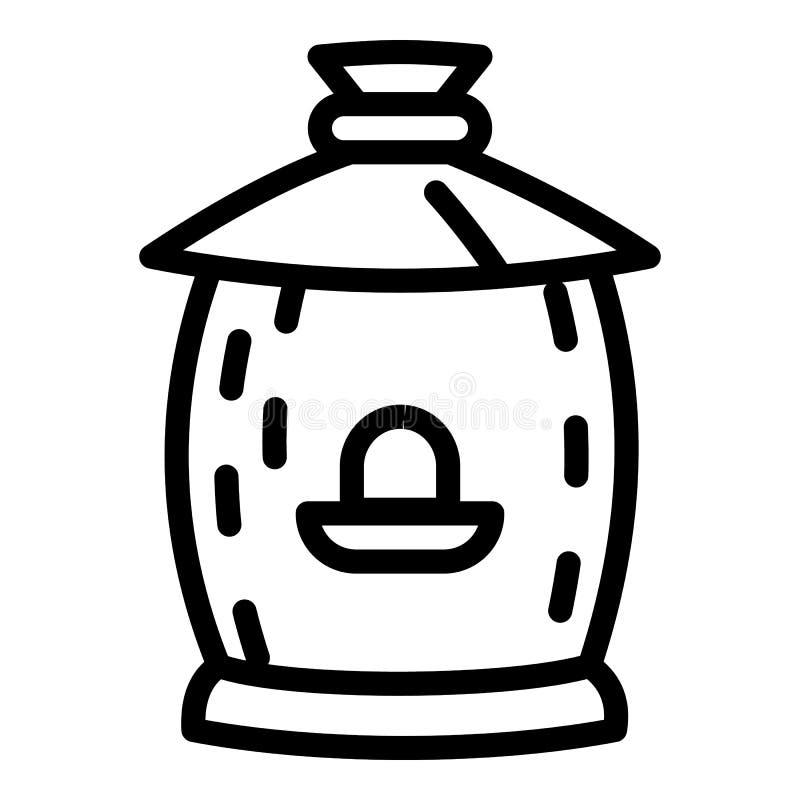 Ícone de madeira da colmeia, estilo do esboço ilustração royalty free