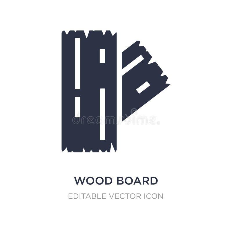 ícone de madeira da placa no fundo branco Ilustração simples do elemento do conceito da natureza ilustração stock