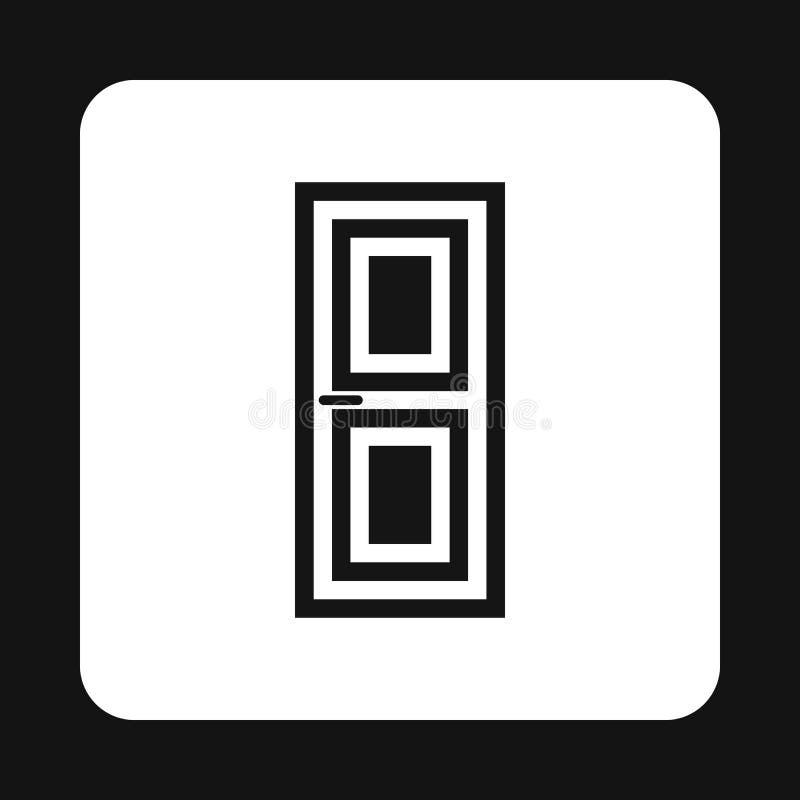 Ícone de madeira da porta interior, estilo simples ilustração royalty free