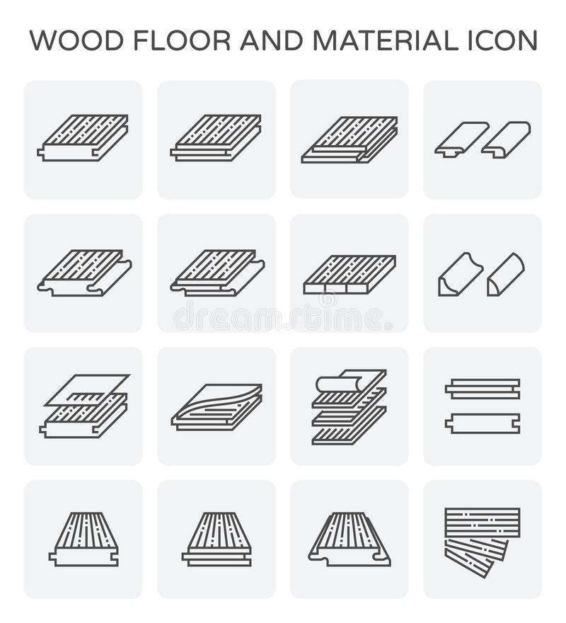 Ícone de madeira do assoalho ilustração stock