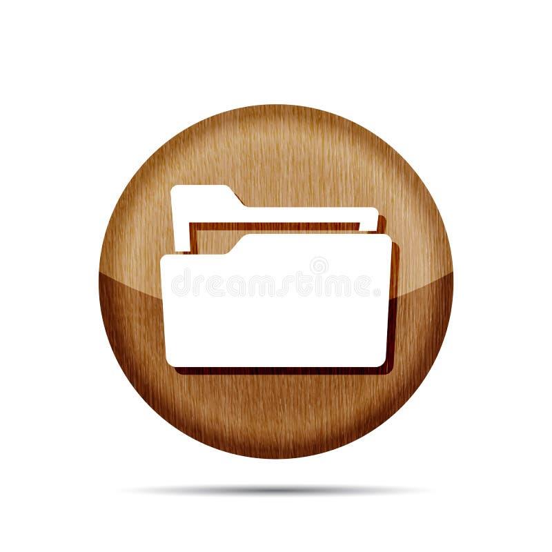 Ícone de madeira liso do dobrador ilustração stock