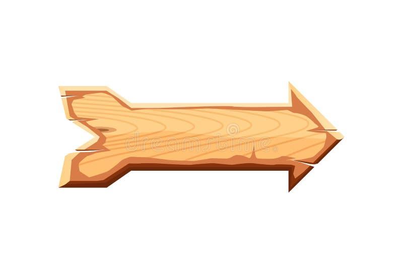 Ícone de madeira vazio do vetor da placa do sinal ilustração royalty free