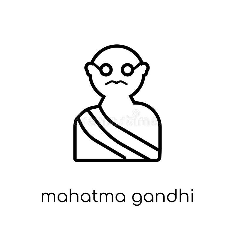 ícone de Mahatma Gandhi Mahatma linear liso moderno na moda GA do vetor ilustração do vetor