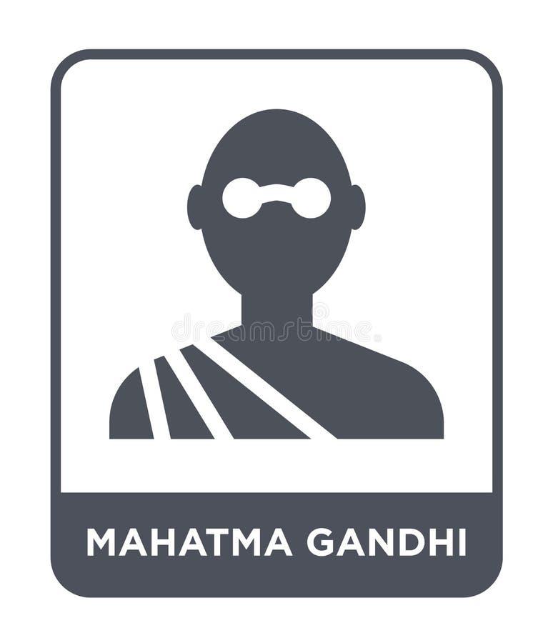 ícone de Mahatma Gandhi no estilo na moda do projeto ícone de Mahatma Gandhi isolado no fundo branco ícone do vetor de Mahatma Ga ilustração stock