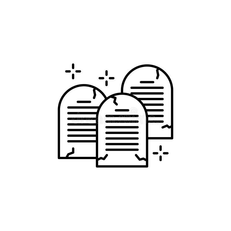 Ícone de mandamentos do Christianity ten Elemento do ícone de cristianismo ilustração stock