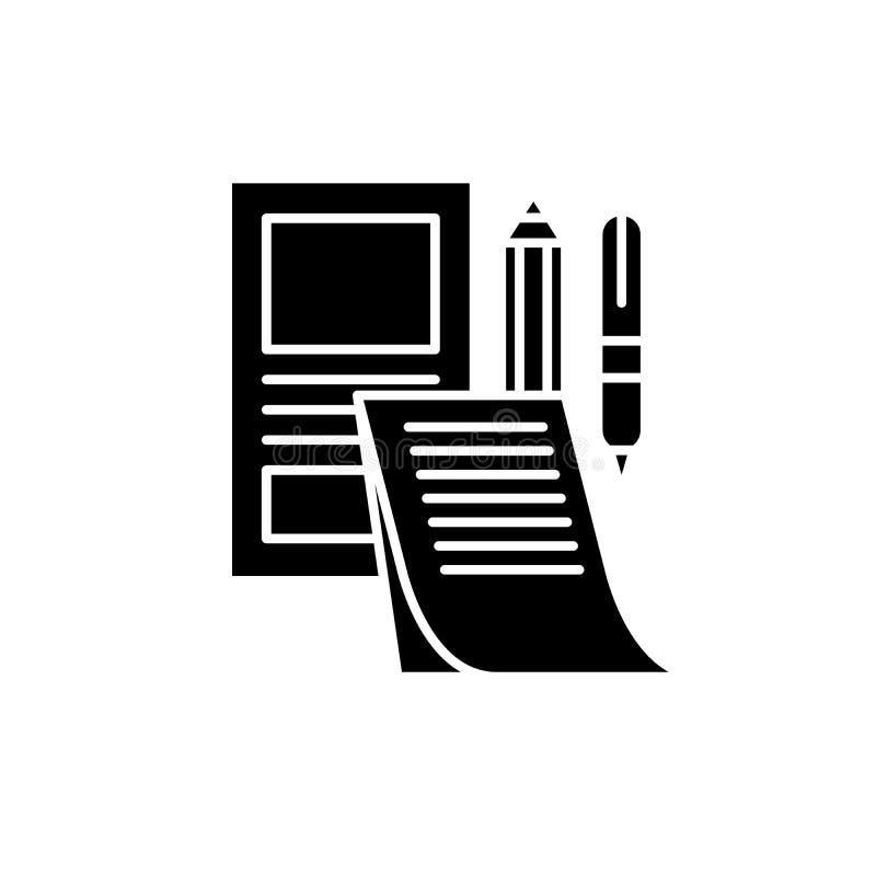 Ícone de marcagem com ferro quente do preto do modelo, sinal do vetor no fundo isolado Símbolo de marcagem com ferro quente do co ilustração stock