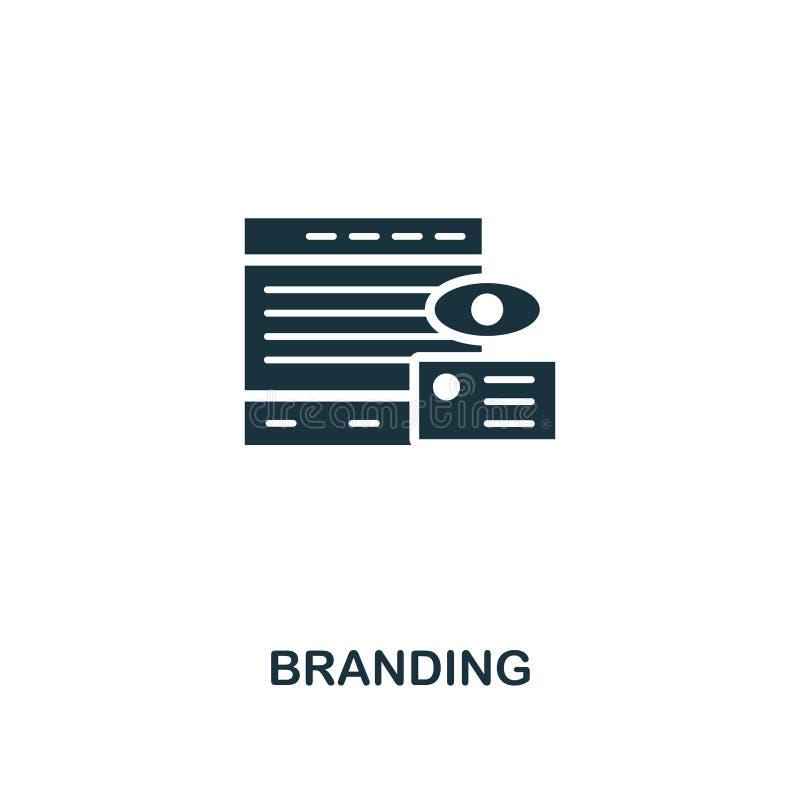 Ícone de marcagem com ferro quente Projeto superior do estilo de anunciar a coleção do ícone UI e UX E ilustração royalty free