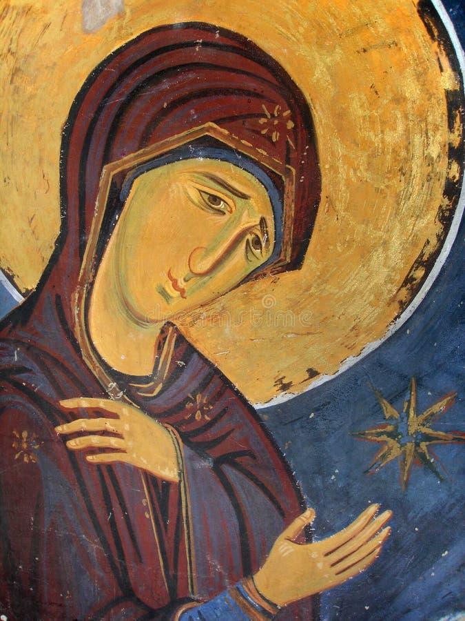 Ícone de Mary de Virgin fotografia de stock