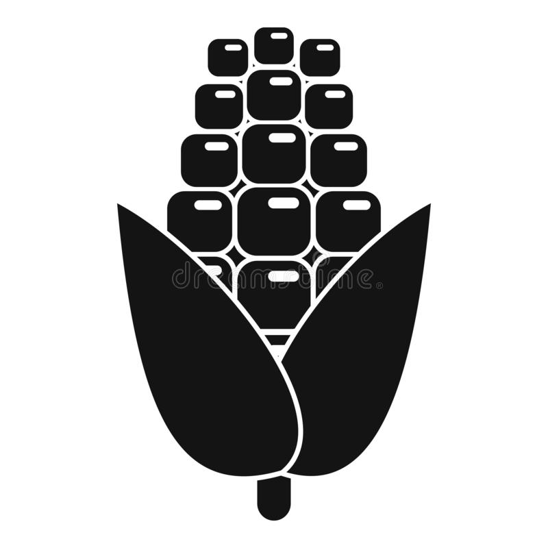 Ícone de milho desagradável, estilo simples ilustração royalty free