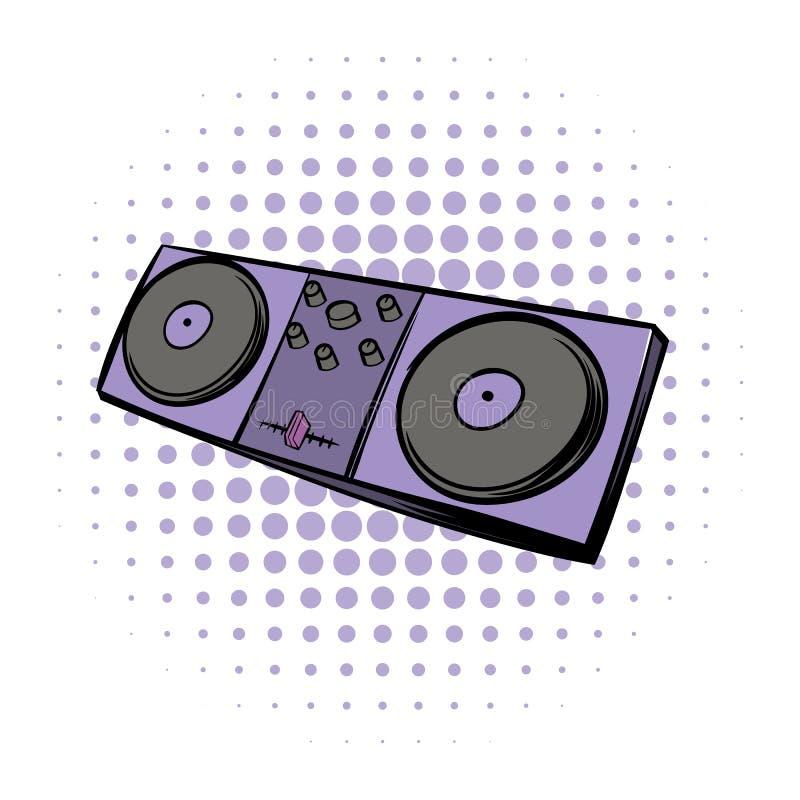 Ícone de mistura do console do instrumento moderno musical ilustração stock