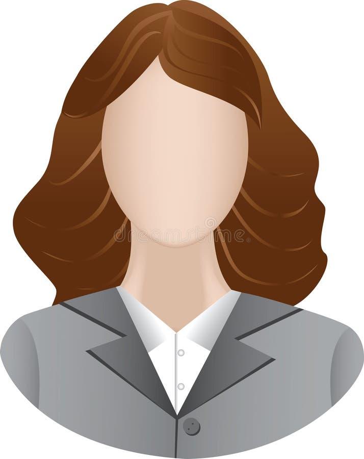 Ícone de mulheres de negócio ilustração do vetor