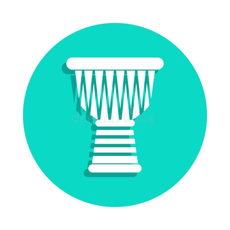Ícone de Ngoma no estilo do crachá Um do ícone da coleção dos instrumentos de música pode ser usado para UI, UX ilustração stock