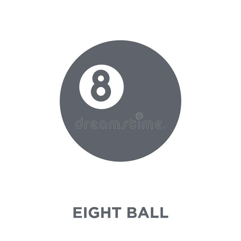 Ícone de oito bolas da coleção da arcada ilustração stock