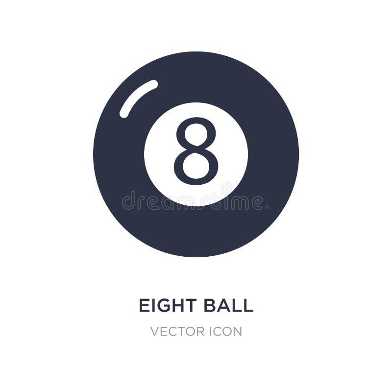 ícone de oito bolas no fundo branco Ilustração simples do elemento do entretenimento e do conceito da arcada ilustração do vetor