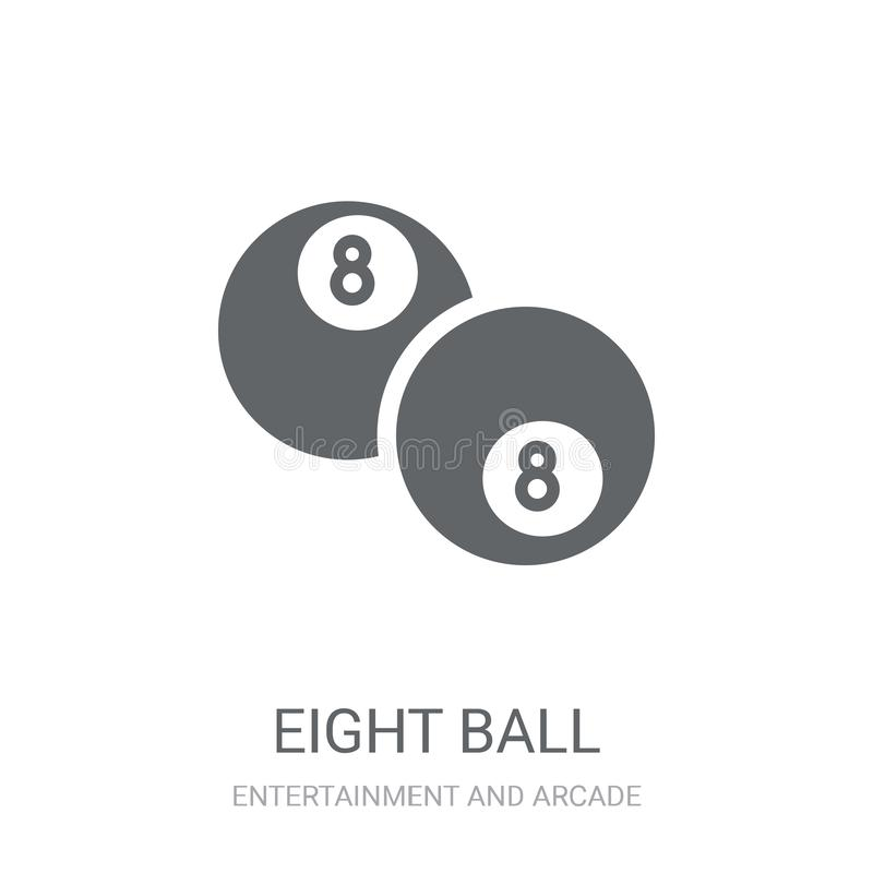 Ícone de oito esferas  ilustração do vetor