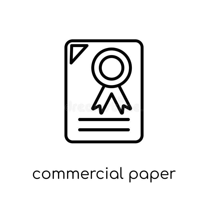 Ícone de papel comercial da coleção de papel comercial ilustração stock