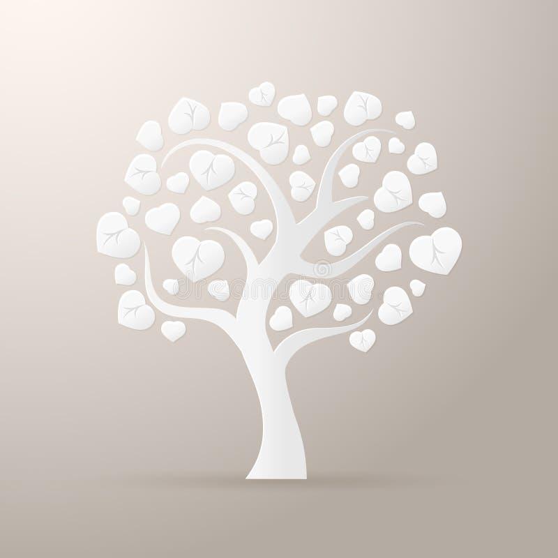 Ícone de papel da árvore ilustração royalty free