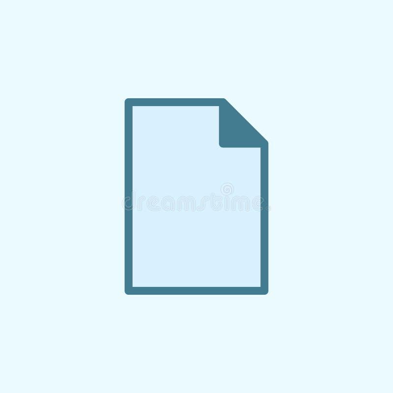 ícone de papel do esboço do campo Elemento do ícone simples de 2 cores Linha fina ícone para o projeto do Web site e o desenvolvi ilustração stock