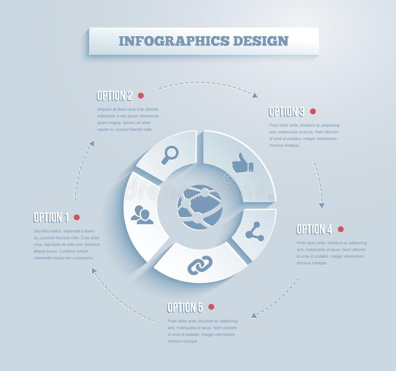 Ícone de papel do infographics do vetor ilustração royalty free