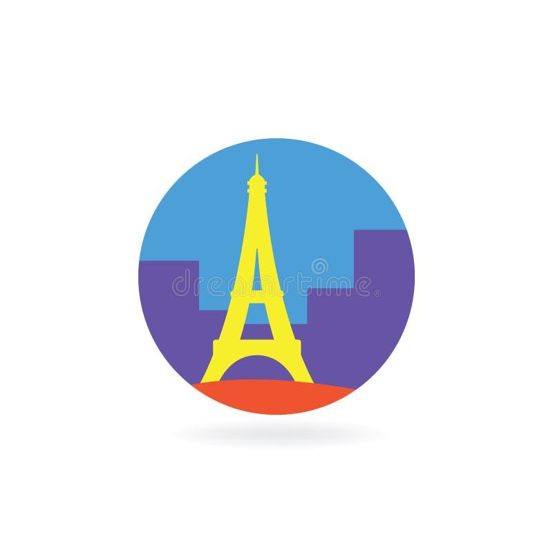 Ícone de Paris ilustração royalty free