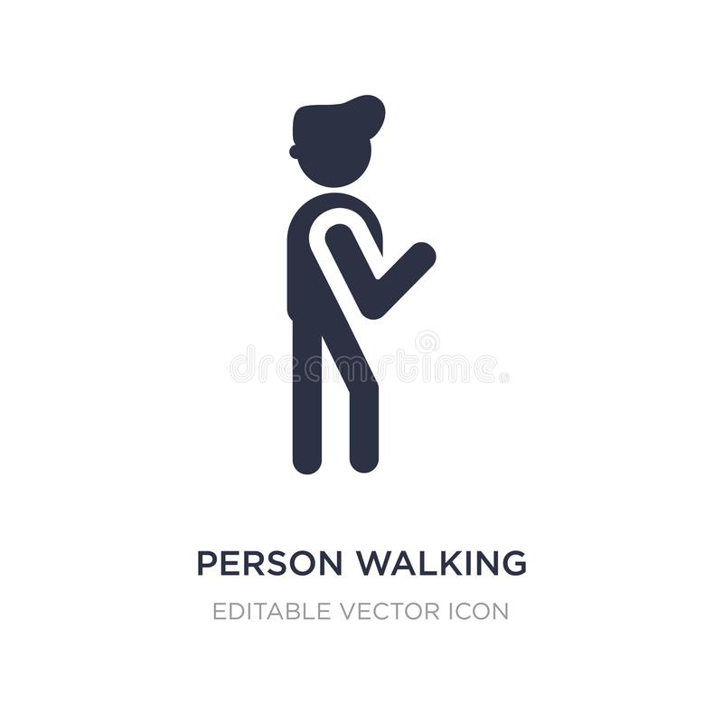 ícone de passeio da pessoa no fundo branco Ilustração simples do elemento do conceito dos povos ilustração do vetor