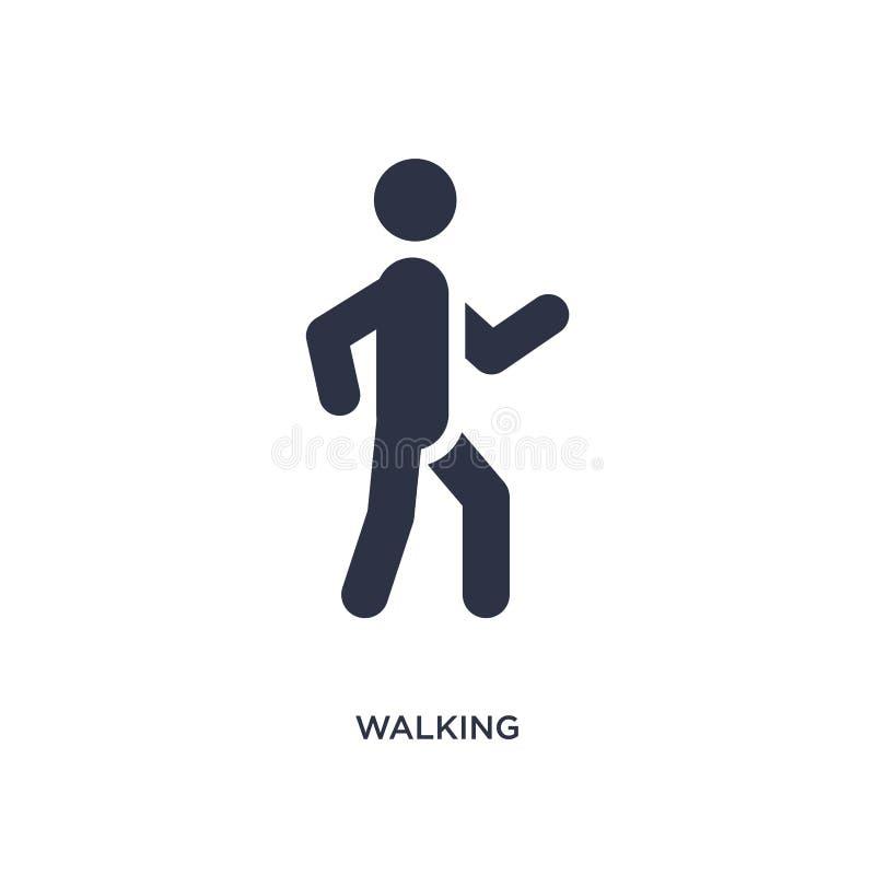 ícone de passeio no fundo branco Ilustração simples do elemento do conceito das atividades ilustração do vetor