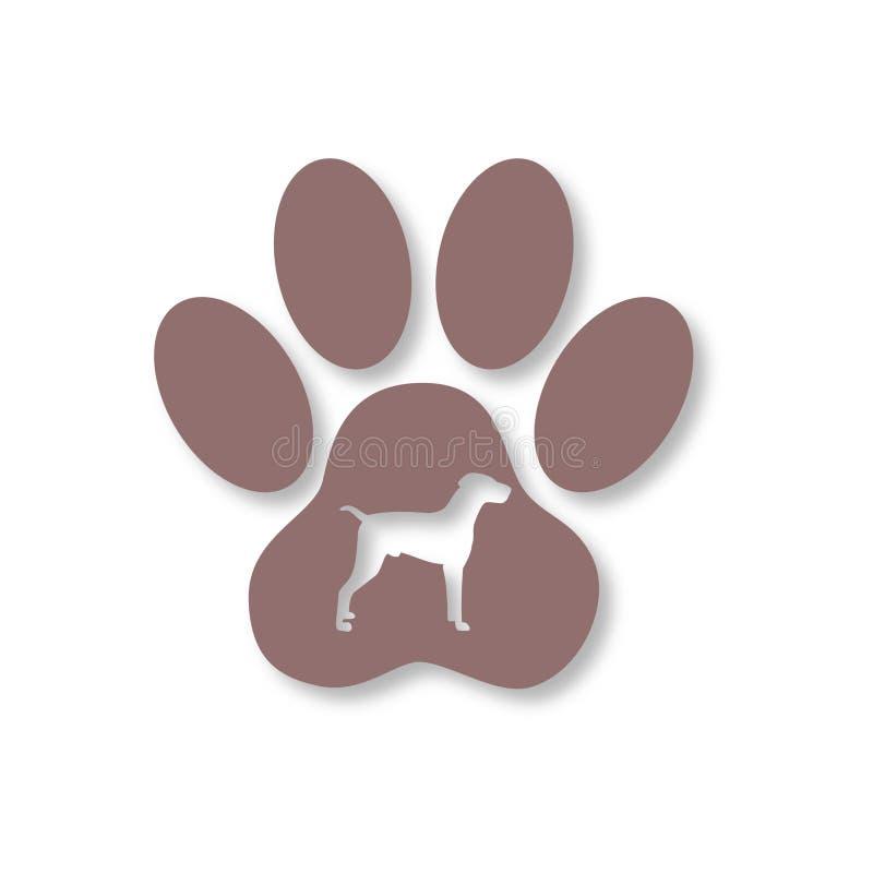 Ícone de Paw Print do cão ilustração royalty free