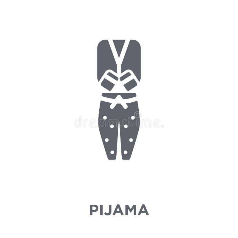 Ícone de Pijama da coleção da roupa ilustração royalty free
