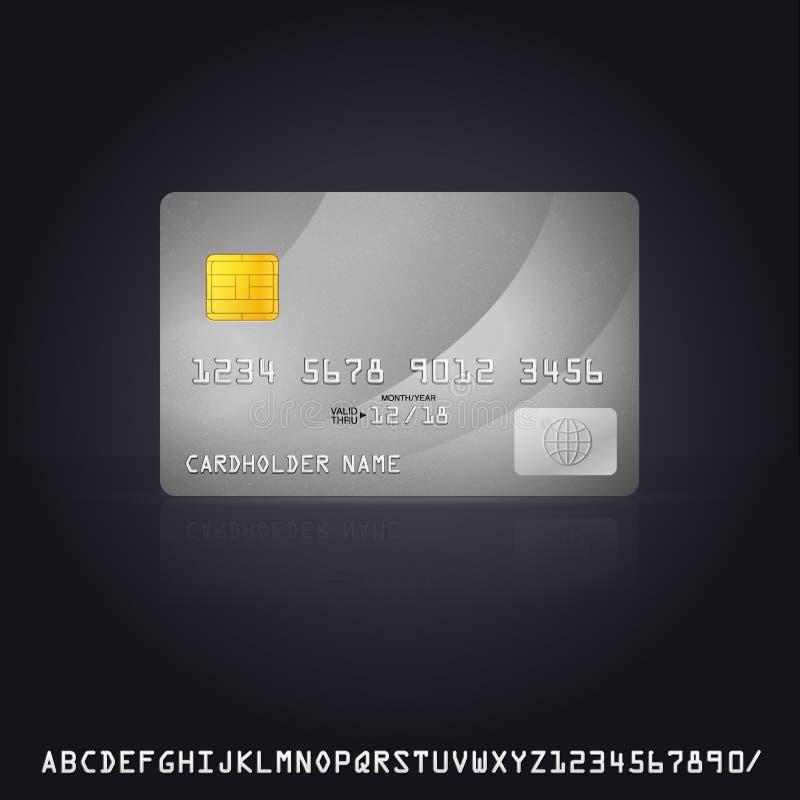 Ícone de prata do cartão de crédito ilustração royalty free