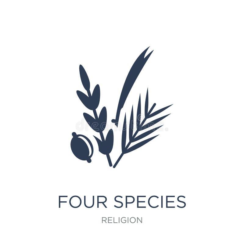 Ícone de quatro espécies  ilustração royalty free