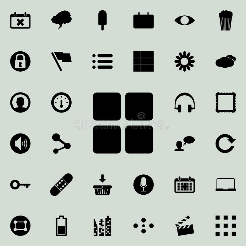 ícone de quatro quadrados Grupo detalhado de ícones minimalistic Projeto gráfico superior Um dos ícones da coleção para Web site, ilustração royalty free