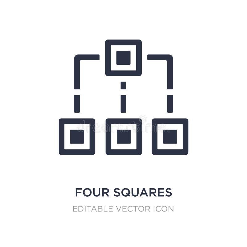ícone de quatro quadrados no fundo branco Ilustração simples do elemento do conceito das formas ilustração do vetor