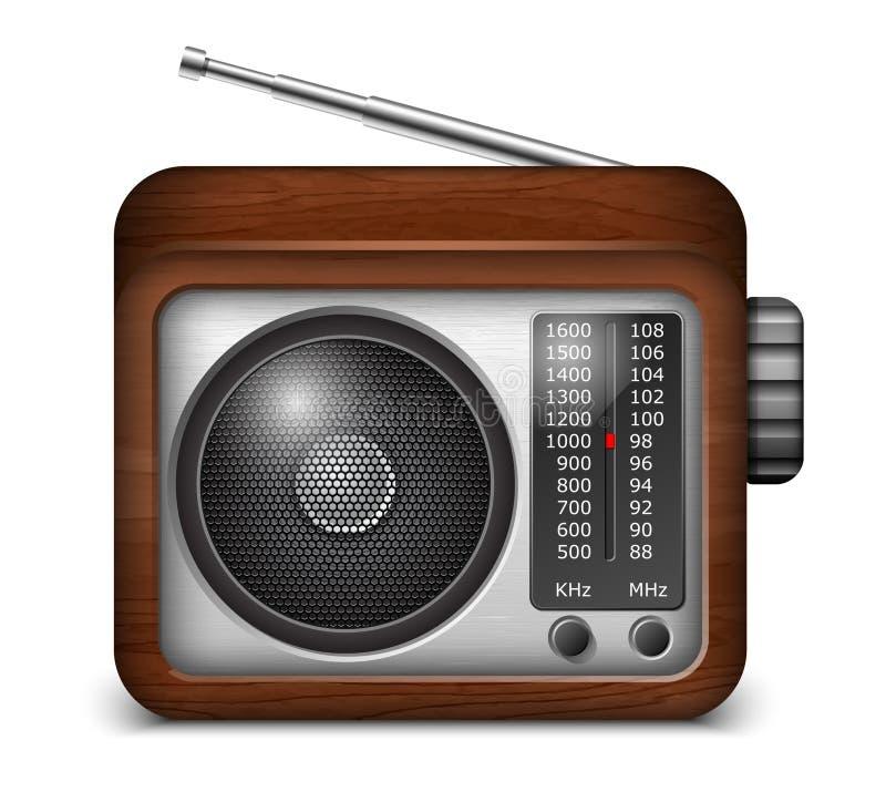Ícone de rádio do app ilustração stock