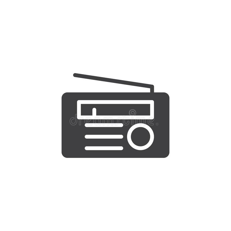 Ícone de rádio do vetor ilustração stock