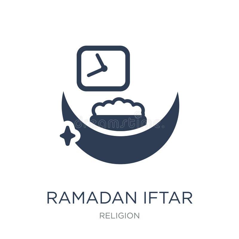 Ícone de Ramadan Iftar Ícone liso na moda de Ramadan Iftar do vetor no whi ilustração do vetor