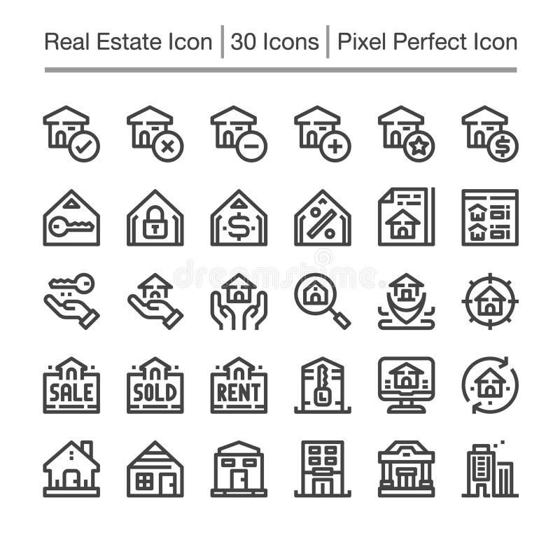 Ícone de Real Estate ilustração stock