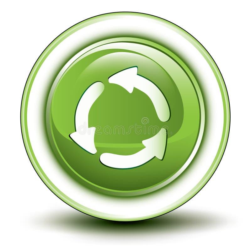 Ícone de recicl ambiental ilustração royalty free