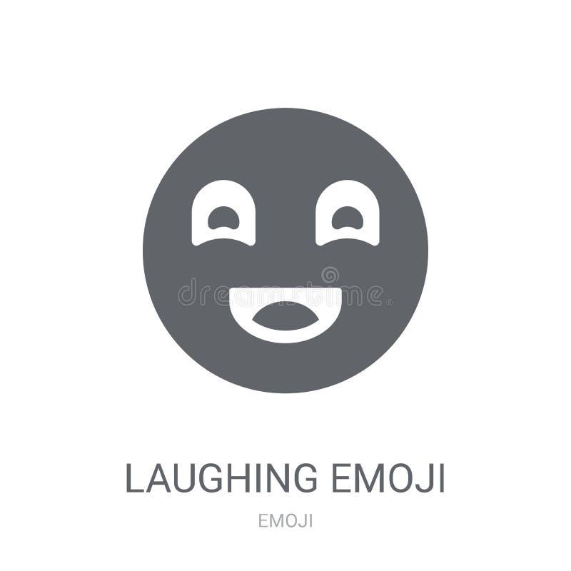 Ícone de riso do emoji  ilustração stock