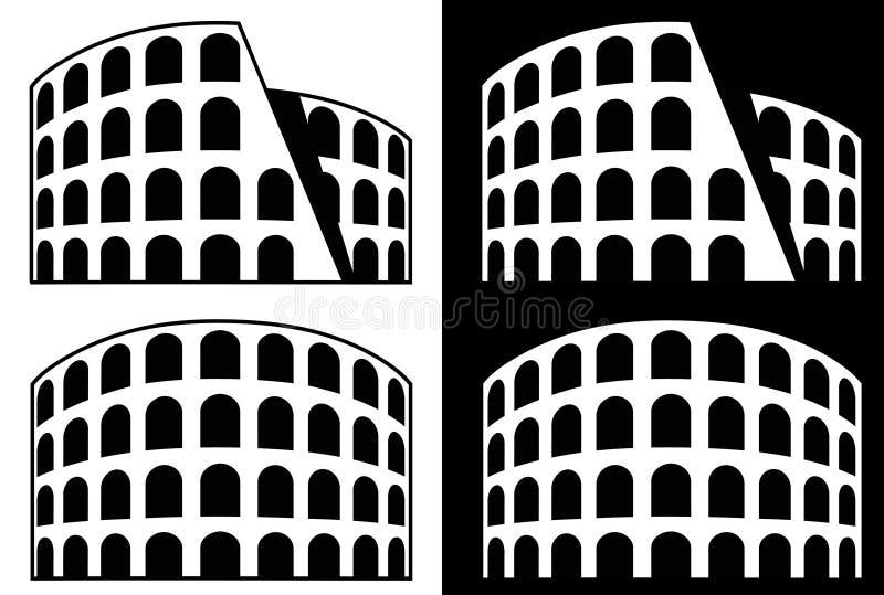 Ícone de Roma - coliseu ilustração royalty free