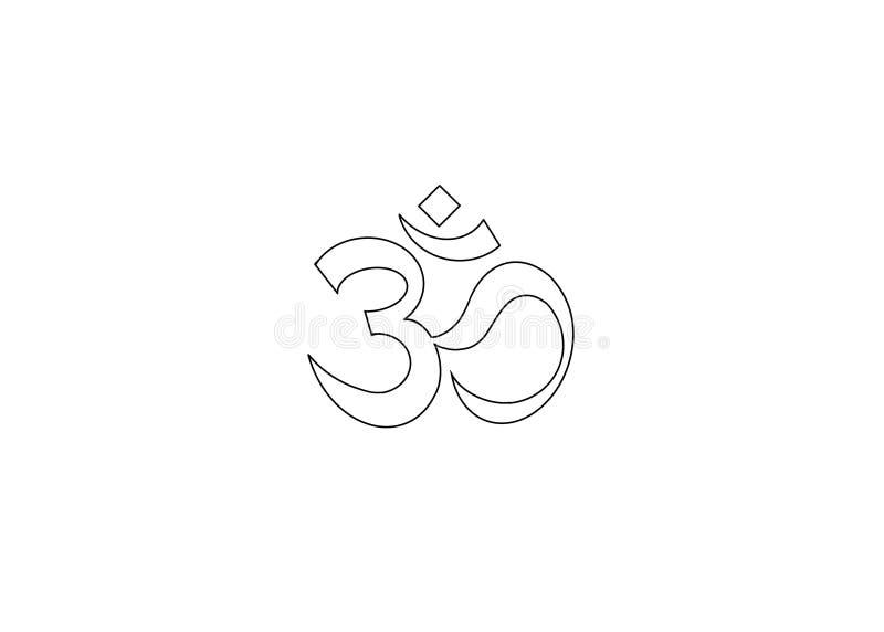 ícone de símbolo om ilustração linha fina ilustração stock