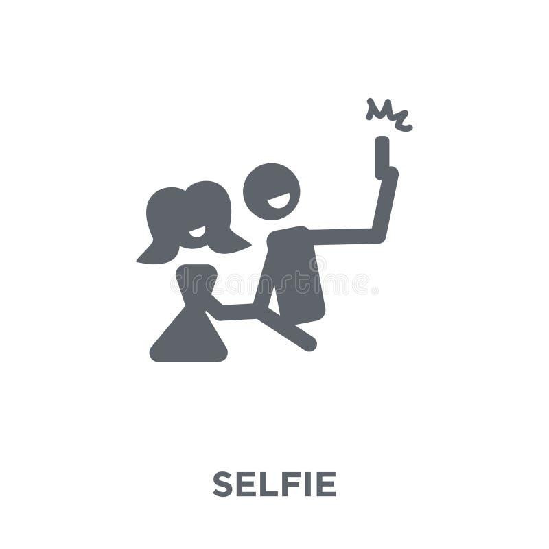 Ícone de Selfie da coleção do aniversário e do partido ilustração do vetor