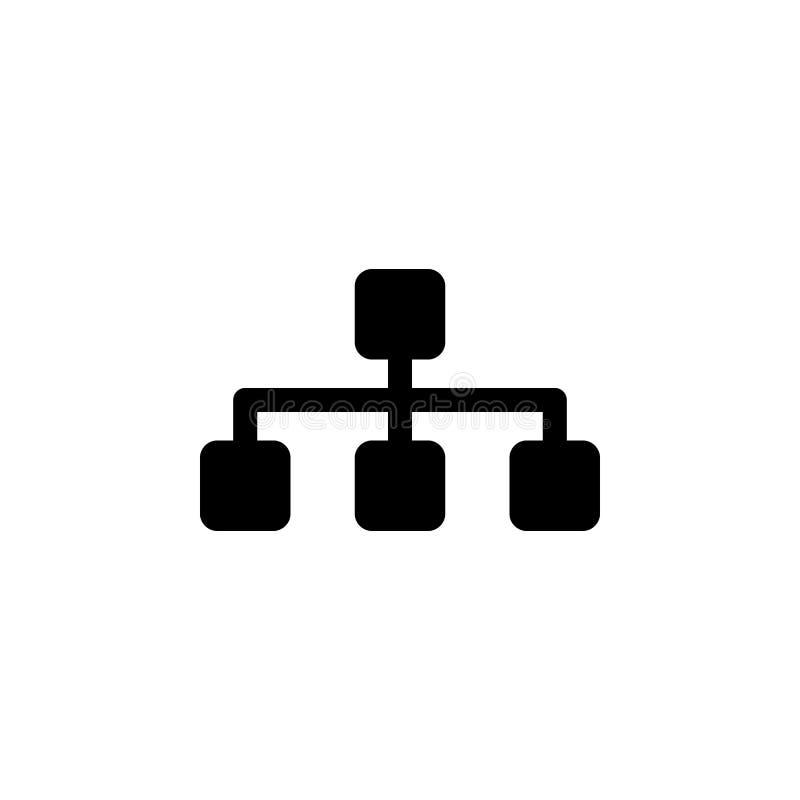 Ícone de Sitemap Os sinais e os símbolos podem ser usados para a Web, logotipo, app móvel, UI, UX ilustração do vetor