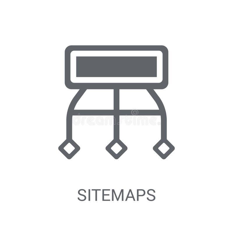 Ícone de Sitemaps  ilustração stock