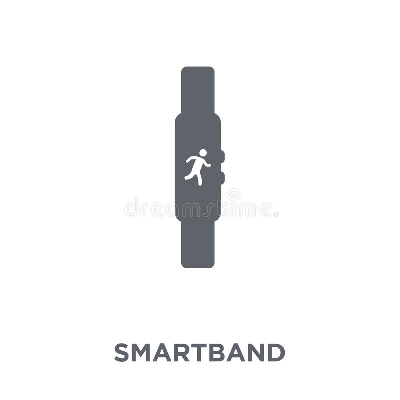Ícone de Smartband da coleção dos dispositivos eletrónicos ilustração stock